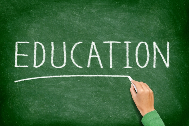 Education. School, teaching and educational concept blackboard.