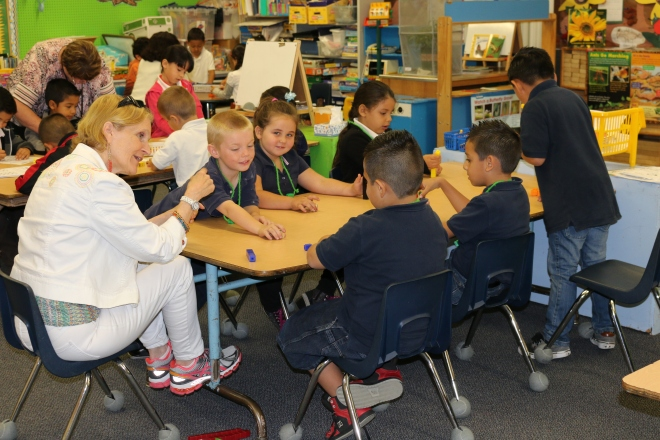 Kindergarteners at Parkview Elementary School last year.