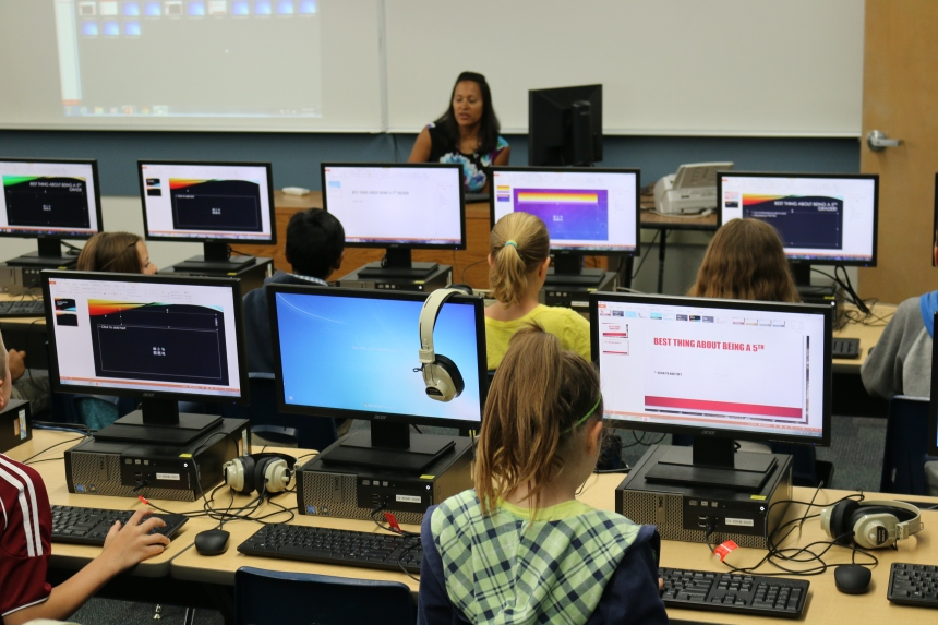 Crestview Elementary School's Computer Lab was the one of the first elementary computers labs upgraded and completed through Measure C4 bond funds. Since last year, every school's computers and labs have been upgraded, thanks to Measure C4. This is just one small example of the bond's success in our schools.