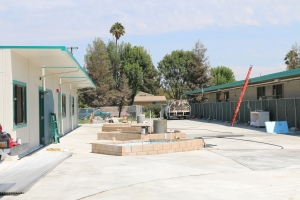 The new courtyard (shown under construction over the summer) on the Sinaloa Middle School campus enables better access for Special Education students using the surrounding classrooms. This is another example of a Measure C4-funded project that has improved our schools.